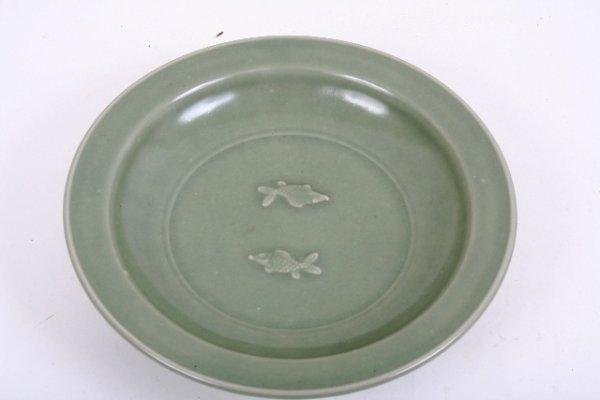 2: Chinese Twin Fish Celadon Dish