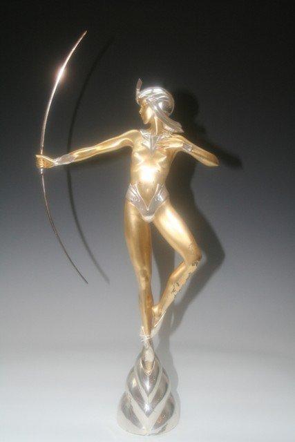 4: G.Rose Deco Revival Bronze Mythological Sculpture