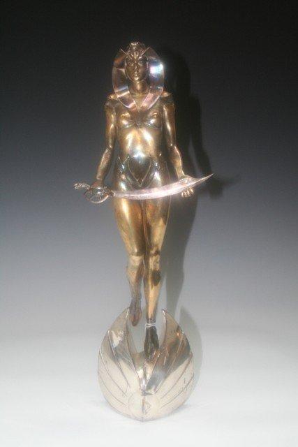 5: G.Rose Deco Revival Bronze Mythological Sculpture