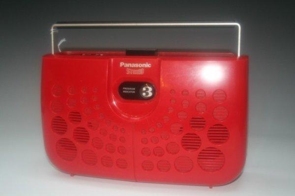 12: Red Panasonic Stereo Radio & 8-Track Player