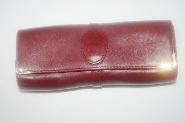 14: Burgundy Leather Cartier Paris Eyeglass Case