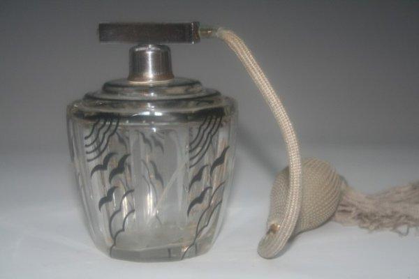22: Vintage Handpainted Chekaslovakian Glass Atomizer