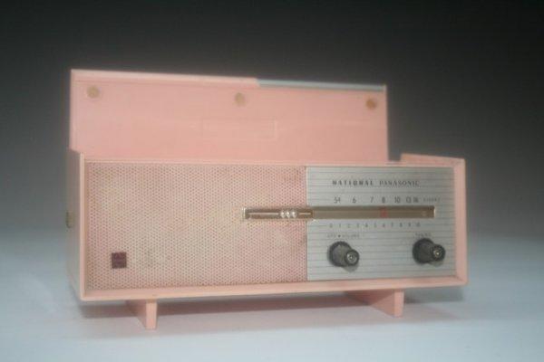 47: Mini Pink Panasonic Transistor Radio Consol - 5