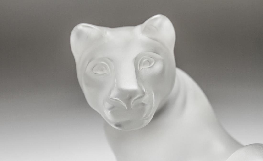 "Lalique Crystal ""Simba"" Lioness Sculpture - 2"
