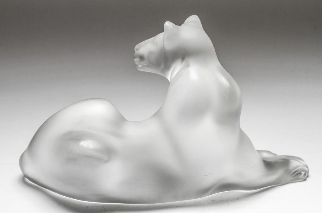 "Lalique Crystal ""Simba"" Lioness Sculpture - 3"
