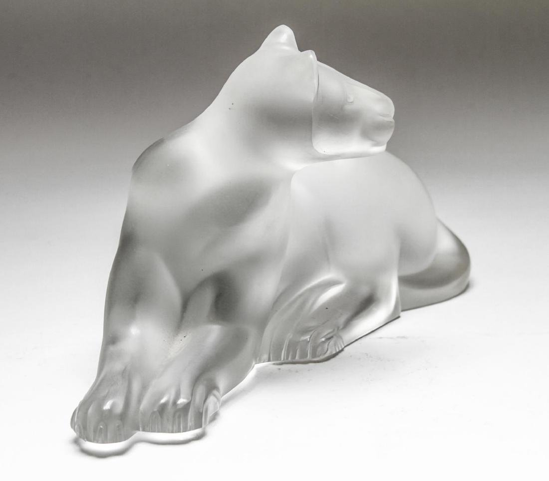 "Lalique Crystal ""Simba"" Lioness Sculpture - 4"