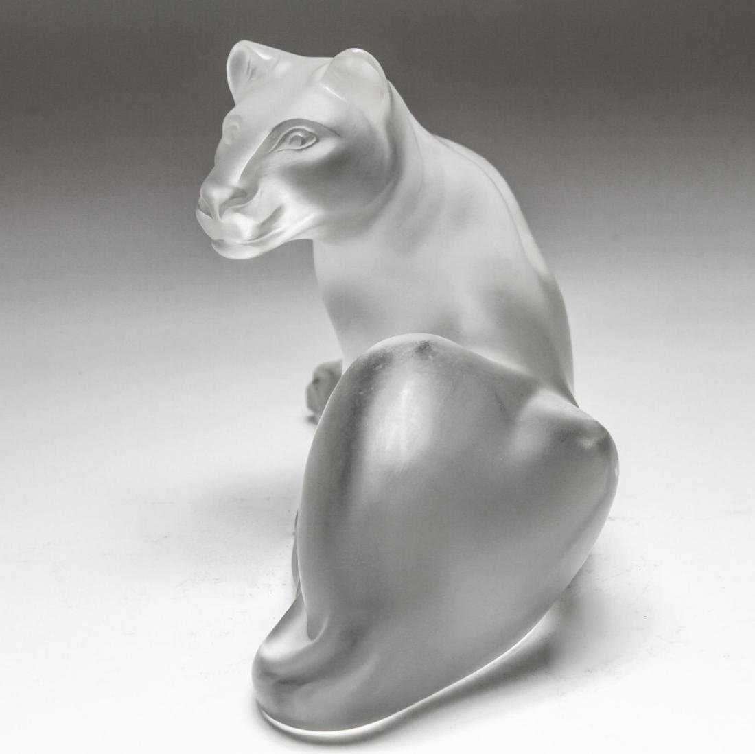 "Lalique Crystal ""Simba"" Lioness Sculpture - 5"