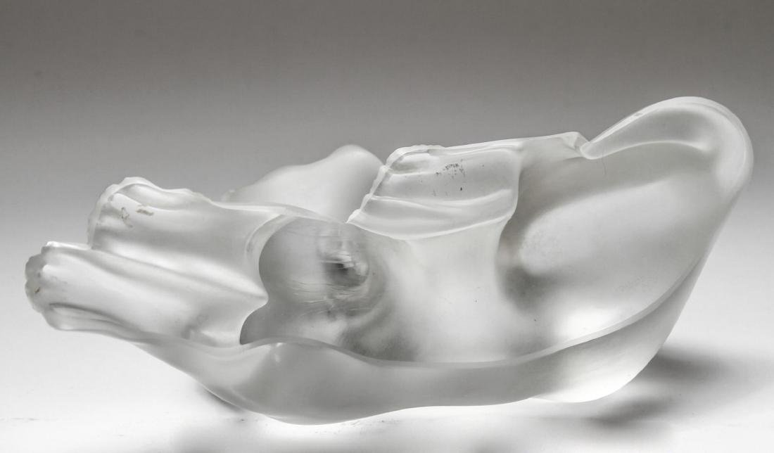 "Lalique Crystal ""Simba"" Lioness Sculpture - 6"