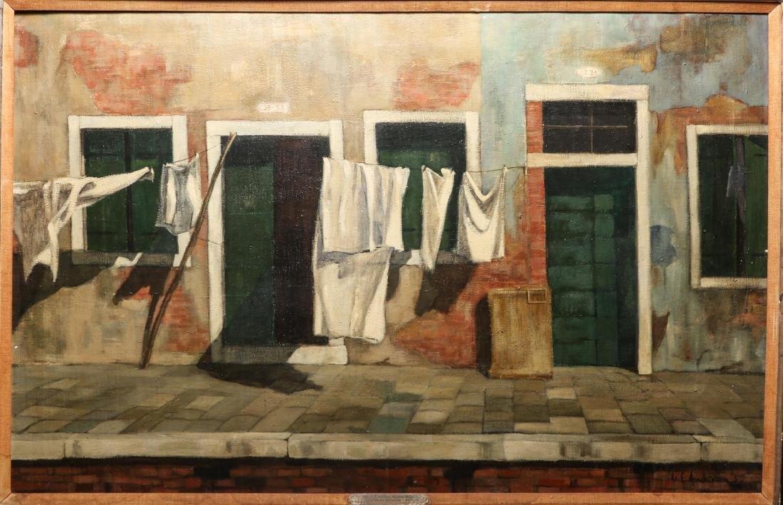 "Leif Anderson ""Venezia"" Oil on Canvas"