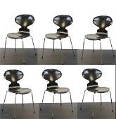 Danish Modern Arne Jacobsen Ant Chairs, 6