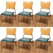 Dakota Jackson Vikter II Square Back Side Chairs-6