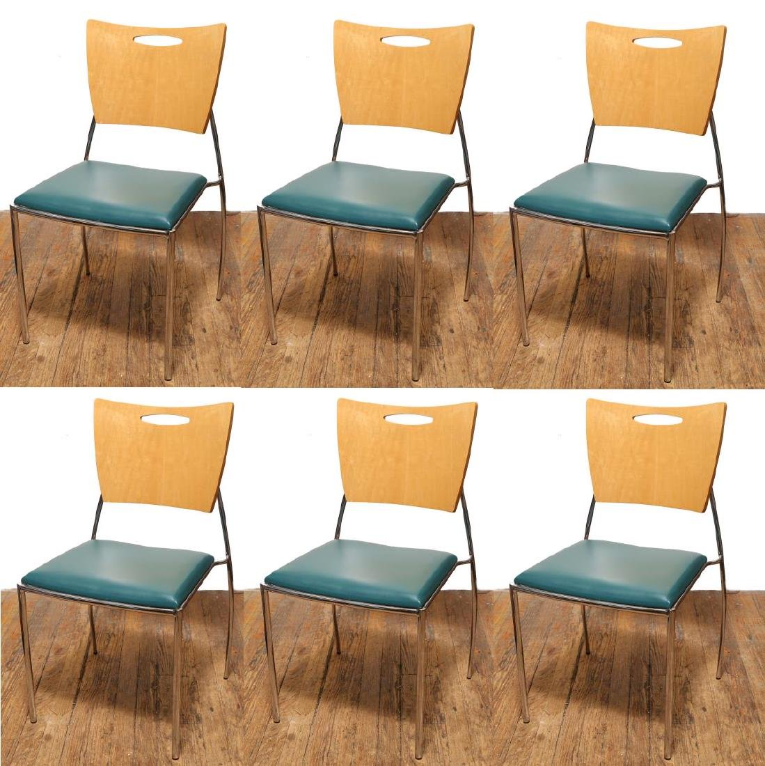 Dakota Jackson Vikter II Square Back Side Chairs-6