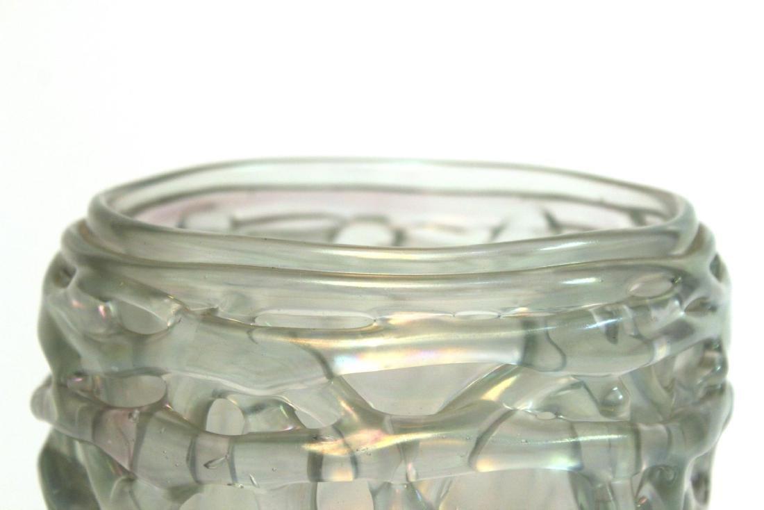 American Art Glass Bowl Signed Marc Heiser - 5