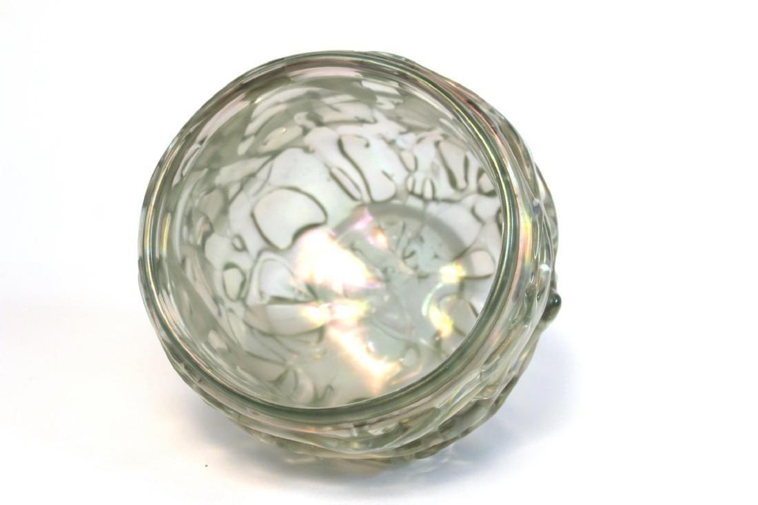 American Art Glass Bowl Signed Marc Heiser - 6