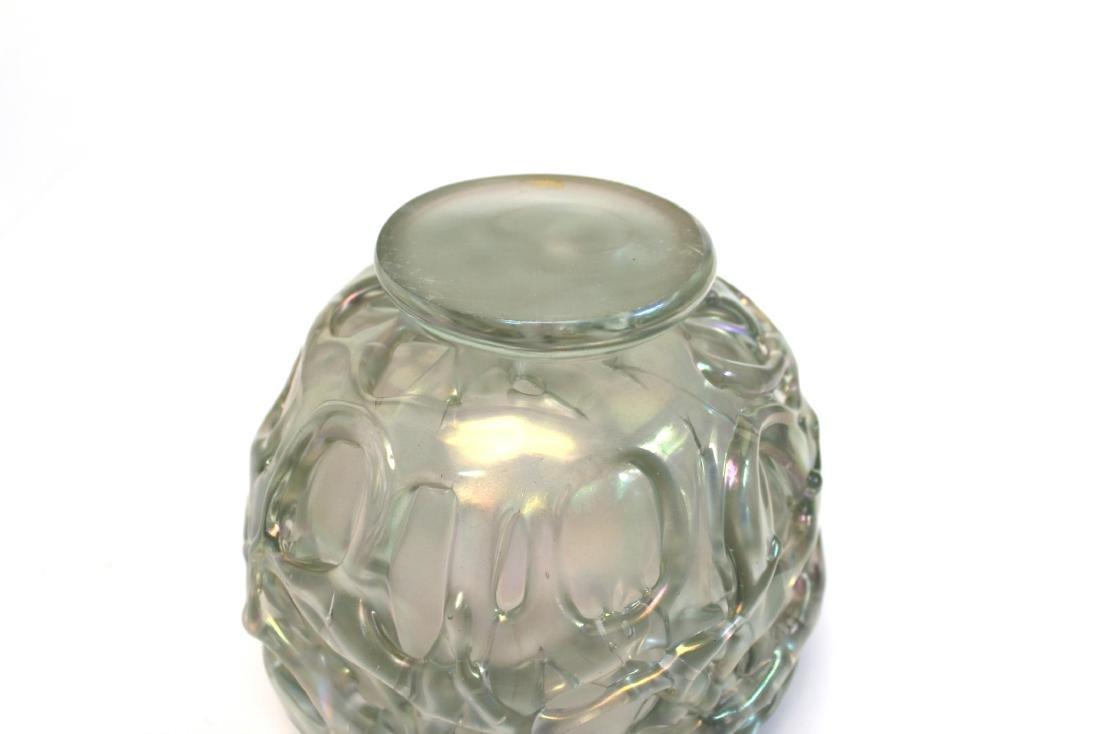 American Art Glass Bowl Signed Marc Heiser - 9
