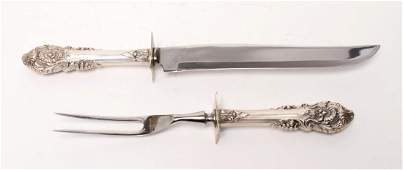 """Wallace Sterling """"Sir Christopher"""" Carving Set, 2"""