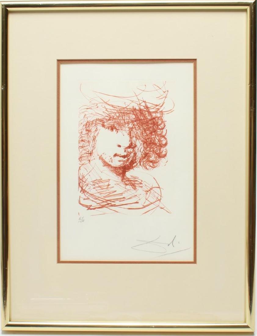 """Salvador Dali """"Rembrandt"""" Drypoint Etching"""