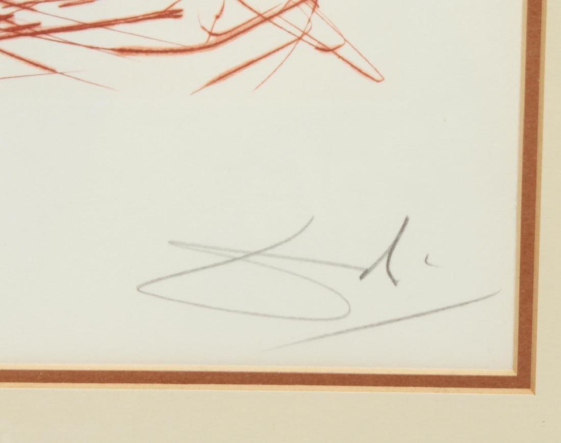 """Salvador Dali """"Rembrandt"""" Drypoint Etching - 2"""