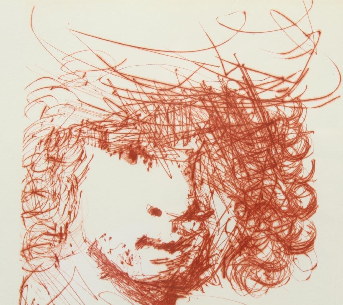 """Salvador Dali """"Rembrandt"""" Drypoint Etching - 4"""