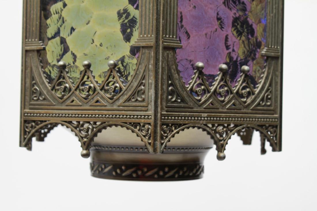 Gothic-Manner Hanging Lanterns, Metal, Pair - 5