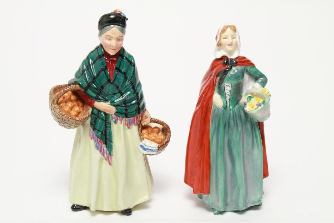 Royal Doulton Porcelain Figurines, 2 Vintage