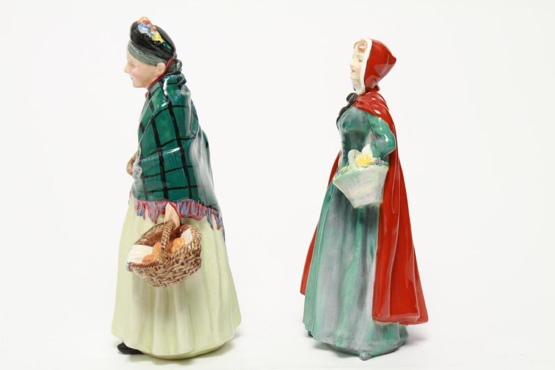 Royal Doulton Porcelain Figurines, 2 Vintage - 6