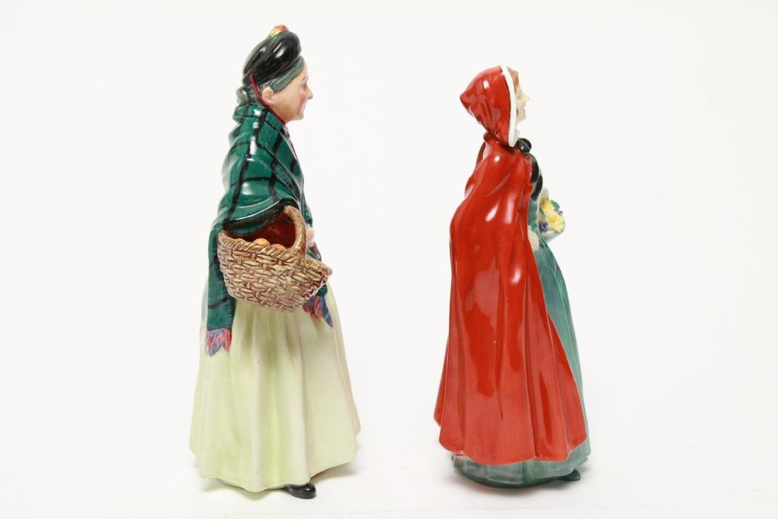 Royal Doulton Porcelain Figurines, 2 Vintage - 8