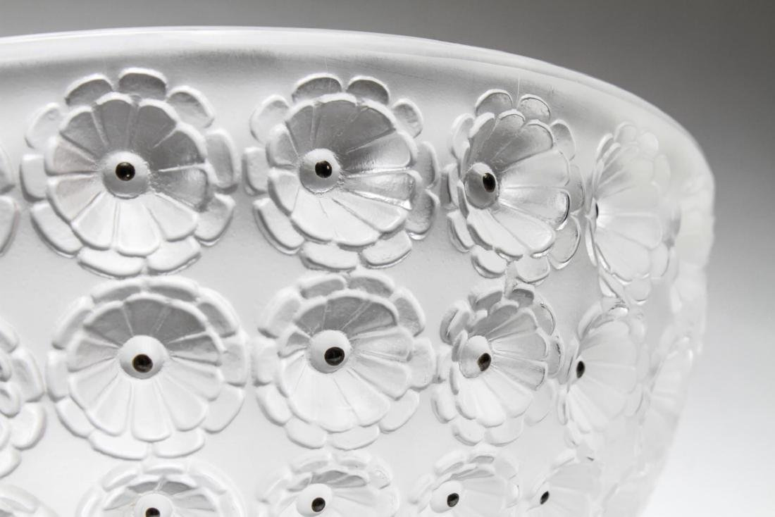 "Lalique Frosted Crystal ""Nemours"" Bowl - 7"