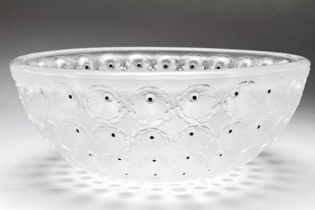 """Lalique Frosted Crystal """"Nemours"""" Bowl"""