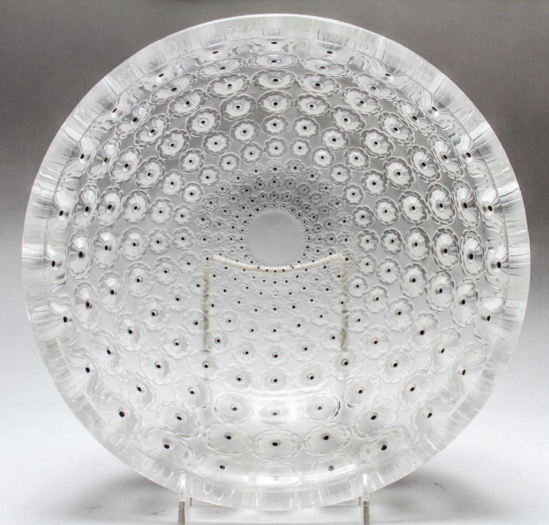 """Lalique Frosted Crystal """"Nemours"""" Bowl - 2"""