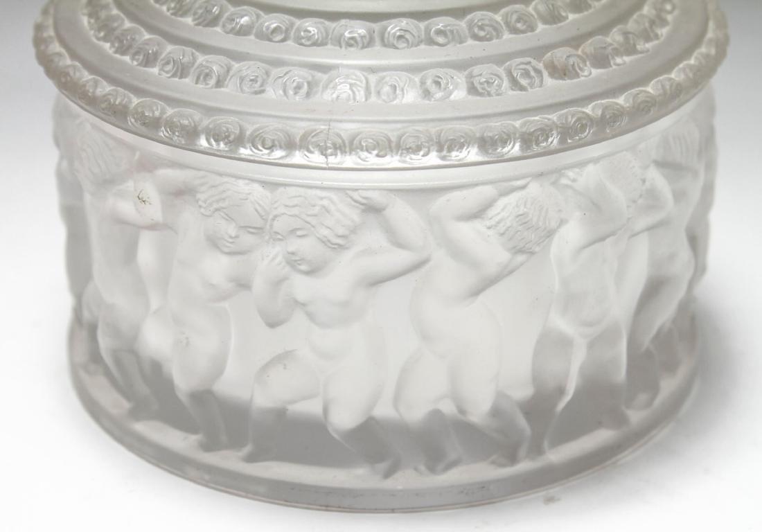 """Lalique Crystal """"Les Enfants"""" Lidded Jar - 2"""