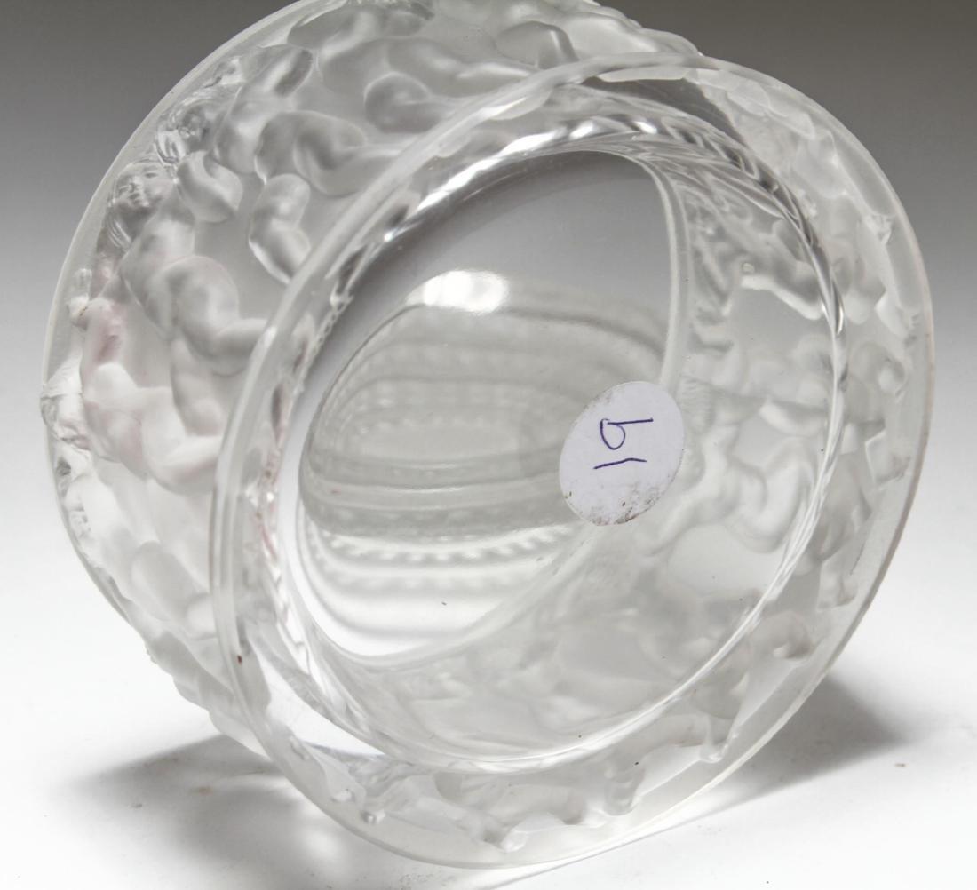 """Lalique Crystal """"Les Enfants"""" Lidded Jar - 3"""