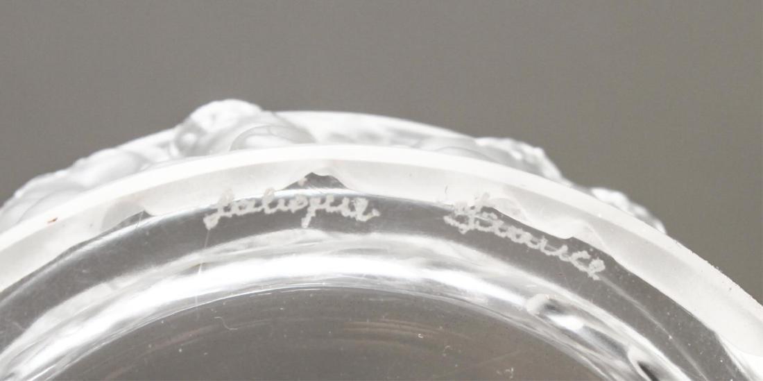 """Lalique Crystal """"Les Enfants"""" Lidded Jar - 4"""