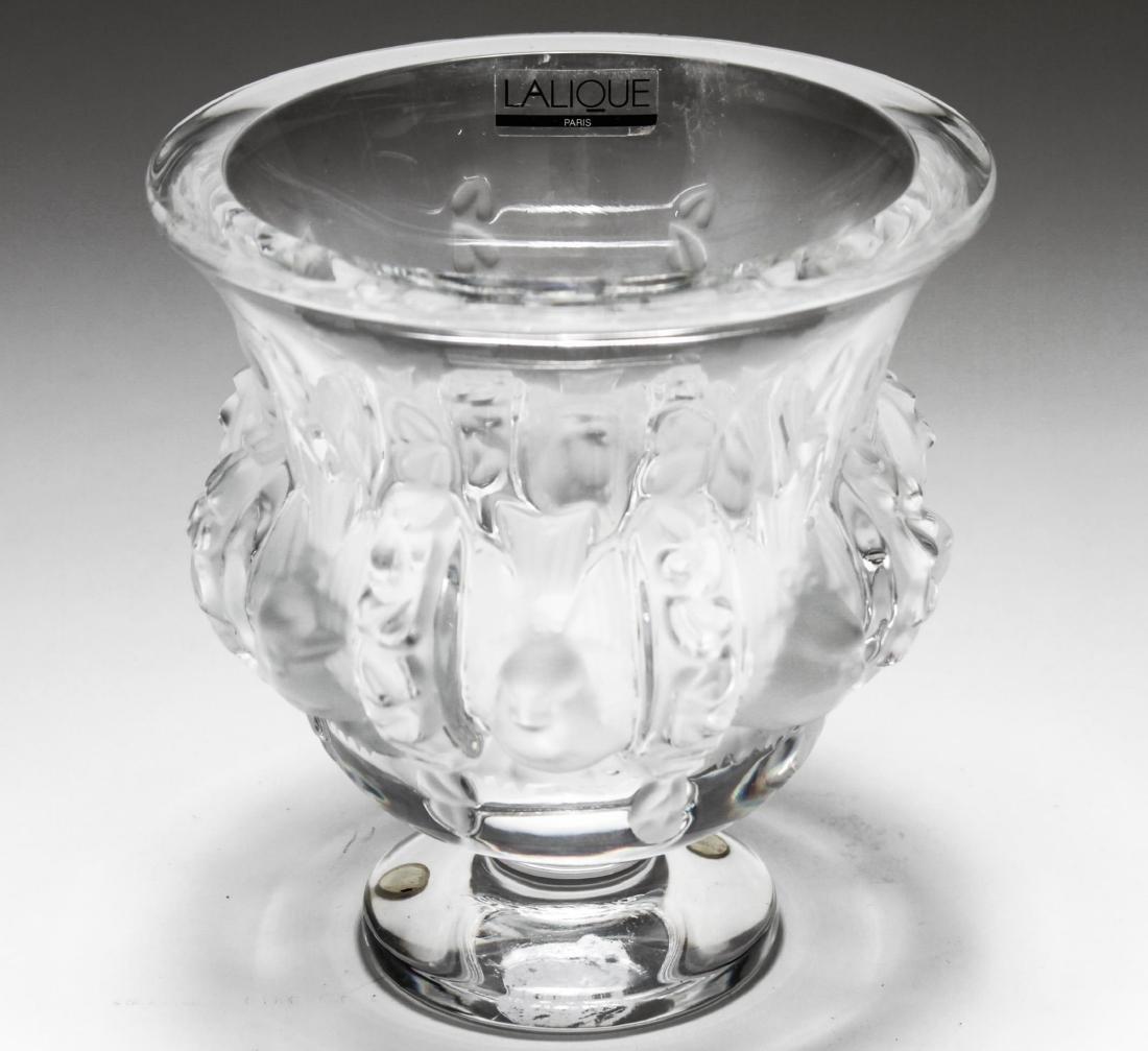 """Lalique Crystal """"Dampierre"""" Vase - 2"""