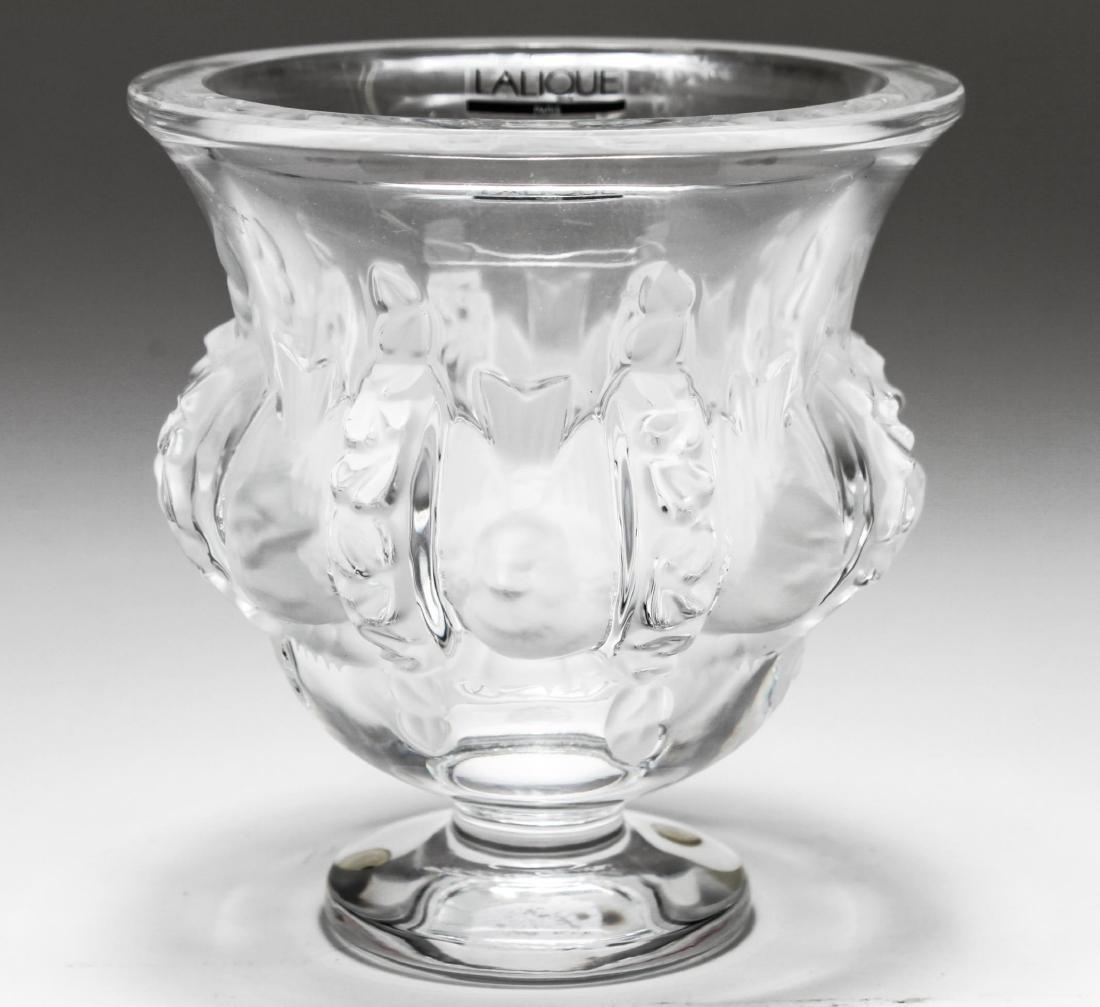 """Lalique Crystal """"Dampierre"""" Vase - 3"""