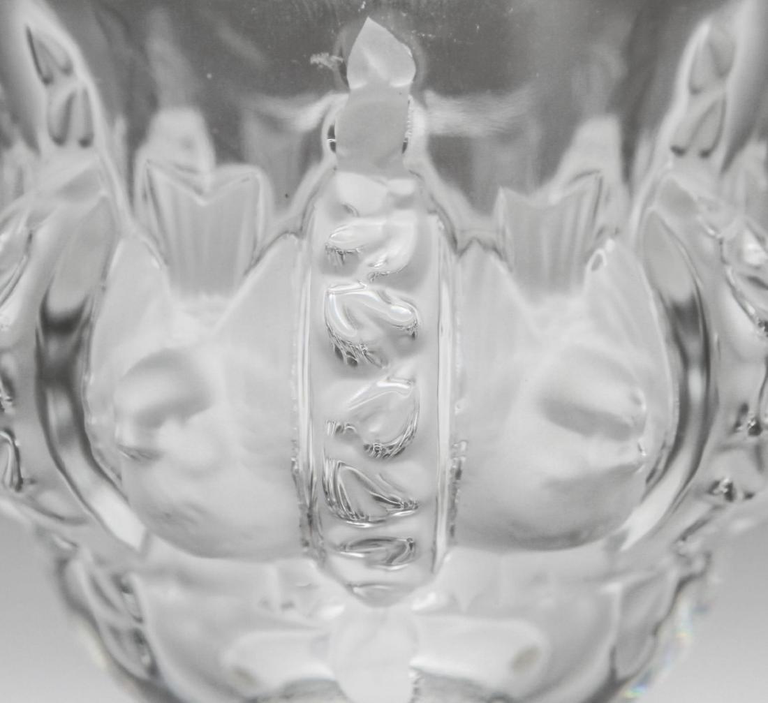 """Lalique Crystal """"Dampierre"""" Vase - 5"""