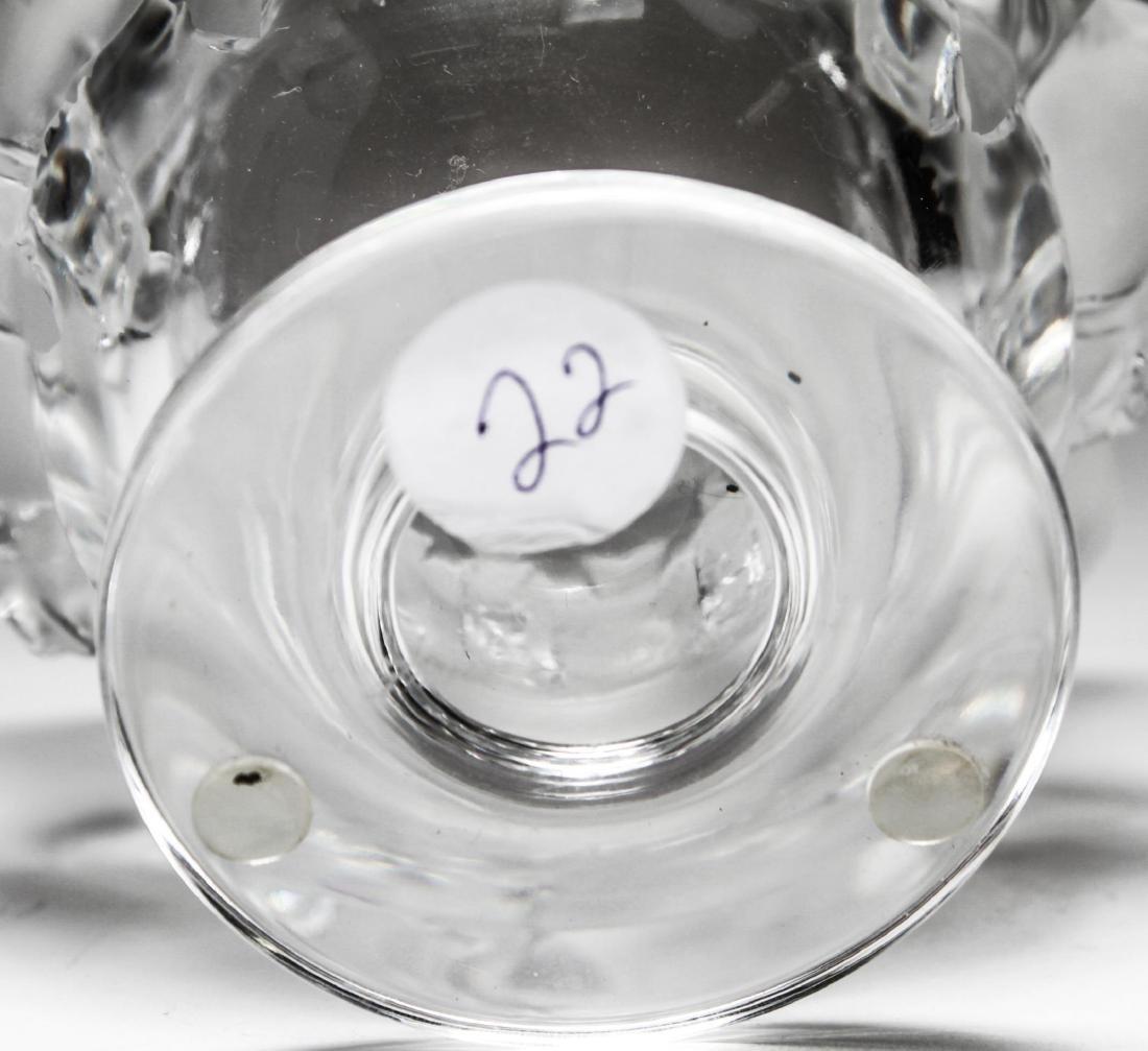 """Lalique Crystal """"Dampierre"""" Vase - 6"""