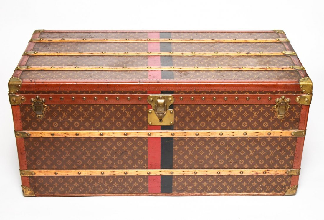 Louis Vuitton Stenciled Canvas Lady's Trunk, 1920s