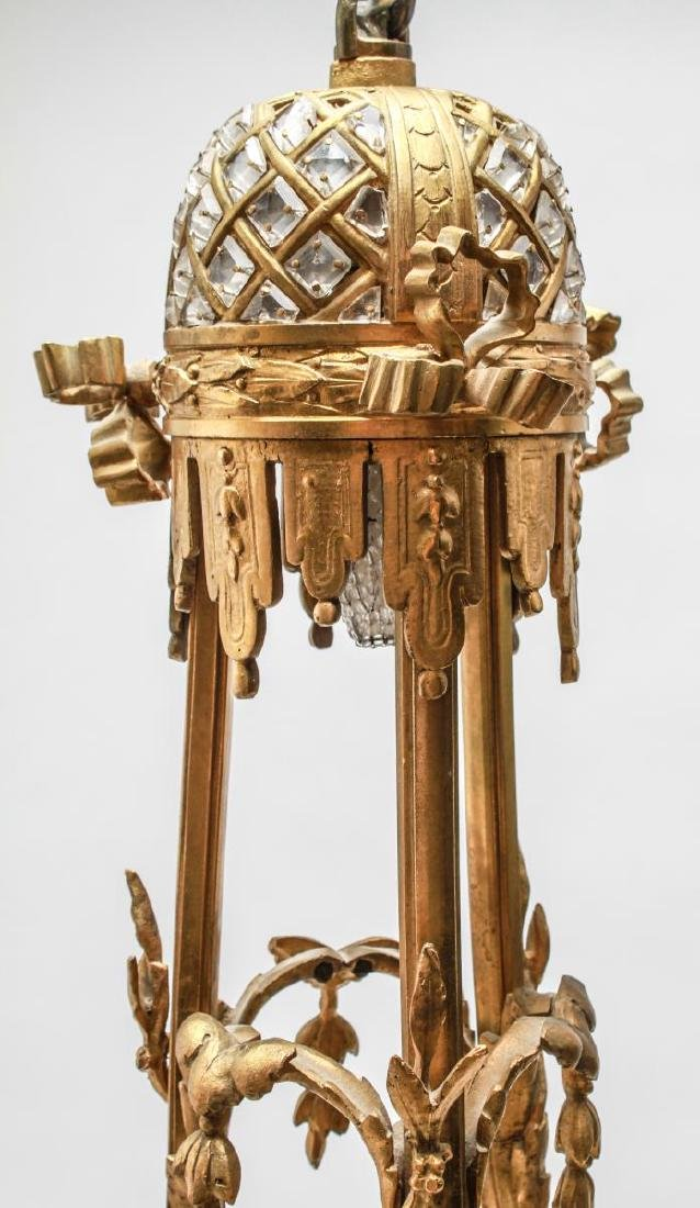 Neoclassical Bronze & Crystal 6-Light Chandelier - 7