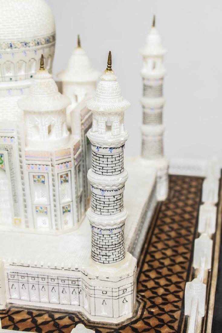 Indian Taj Mahal Hand-Painted Alabaster Model - 10