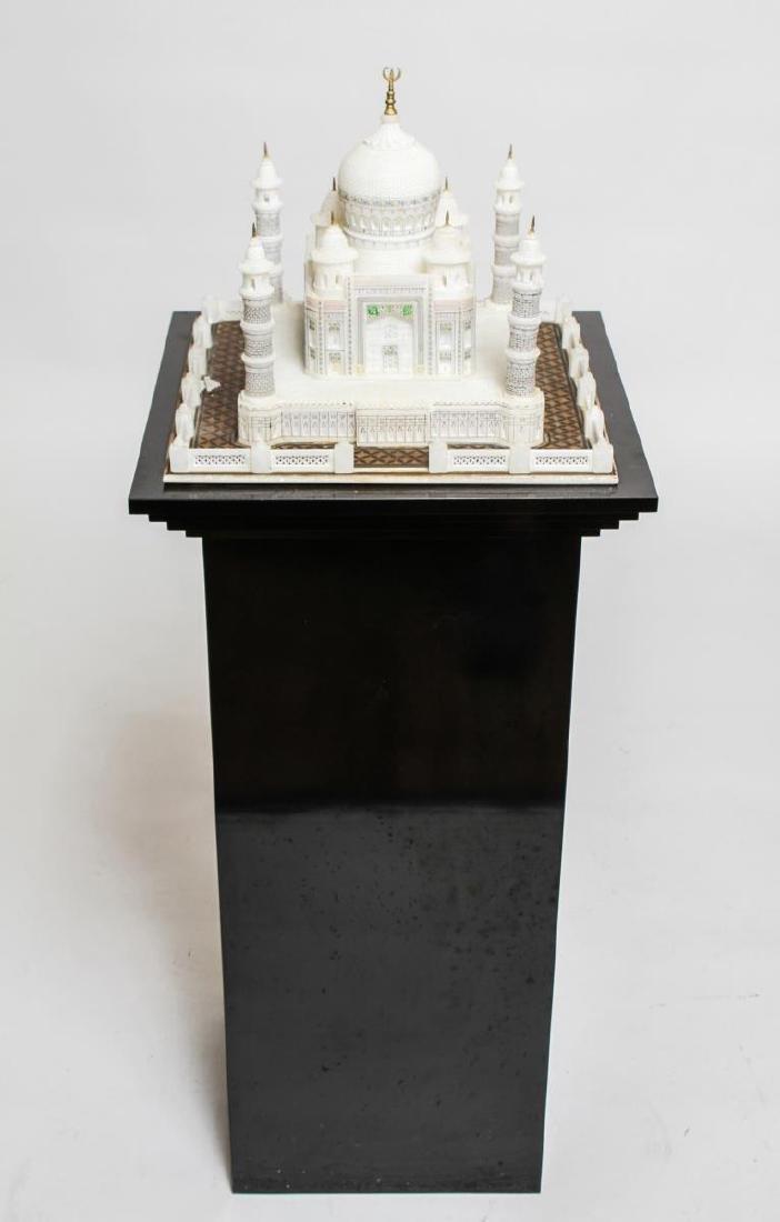 Indian Taj Mahal Hand-Painted Alabaster Model
