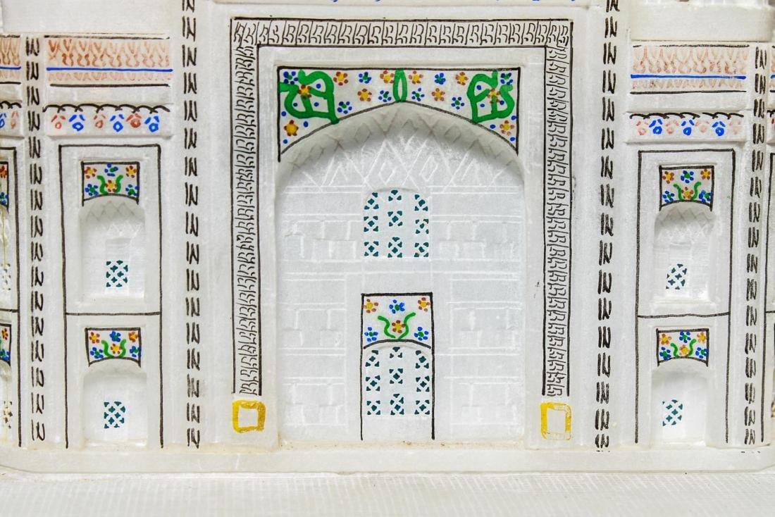 Indian Taj Mahal Hand-Painted Alabaster Model - 5
