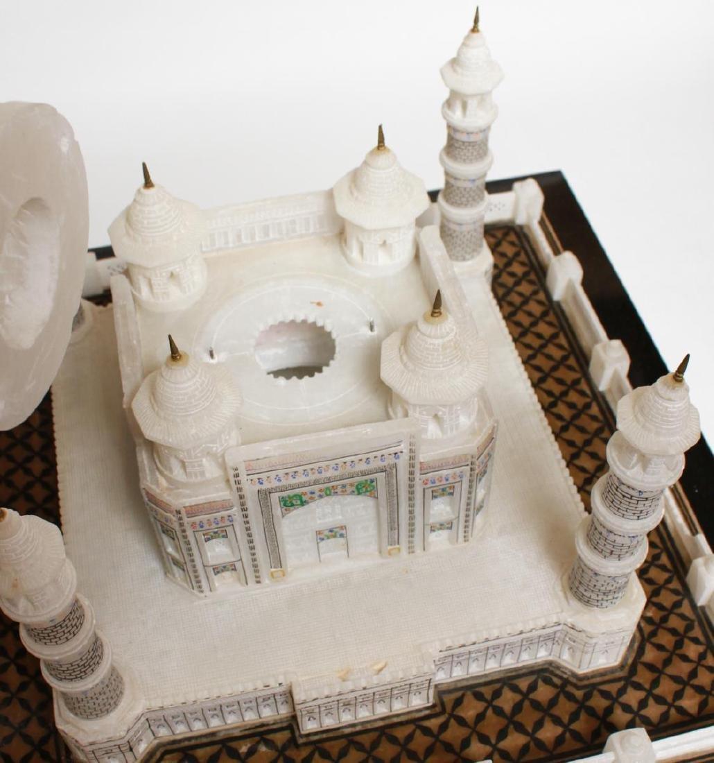 Indian Taj Mahal Hand-Painted Alabaster Model - 9