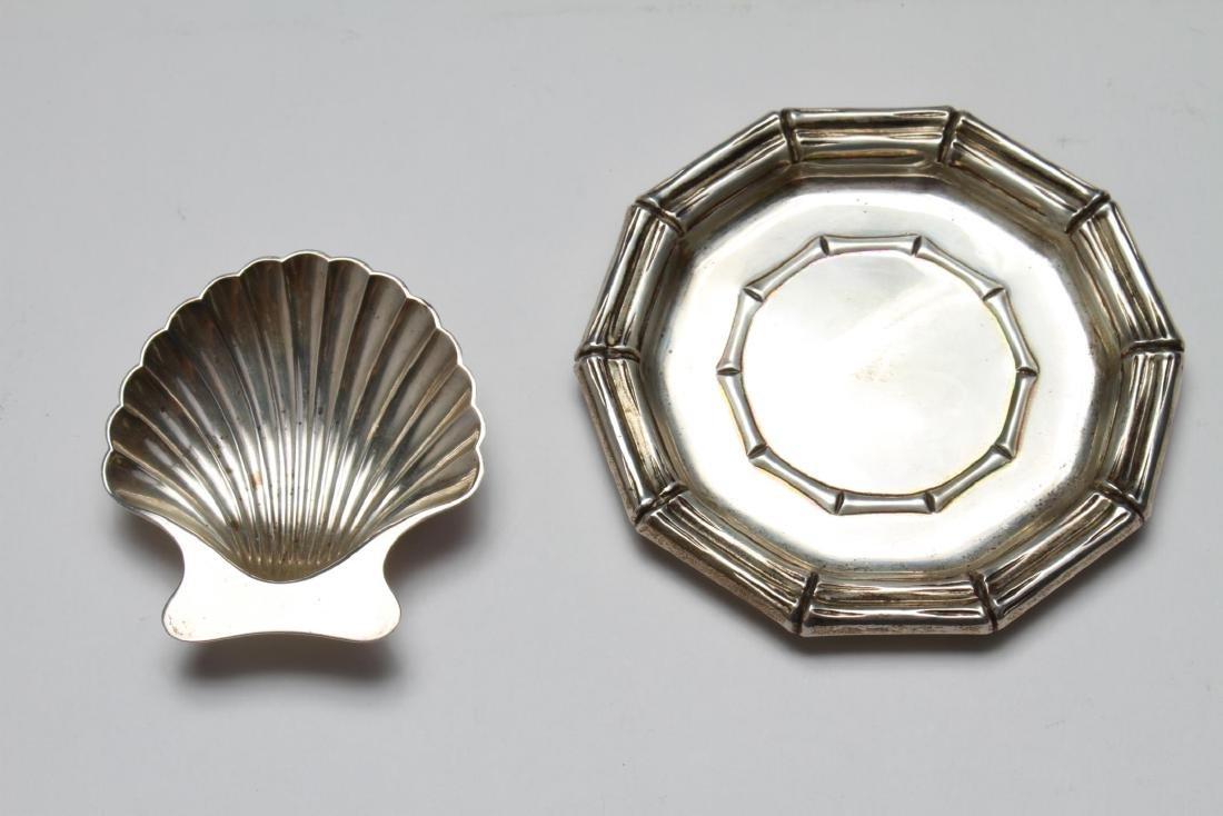 Tiffany & Co Sterling Bamboo Motif Tray & Shell, 2 - 2
