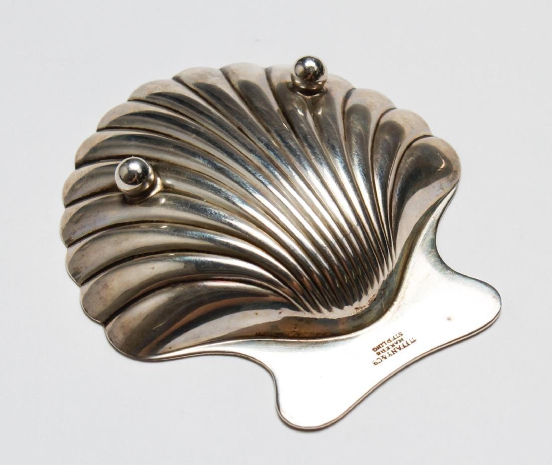 Tiffany & Co Sterling Bamboo Motif Tray & Shell, 2 - 3