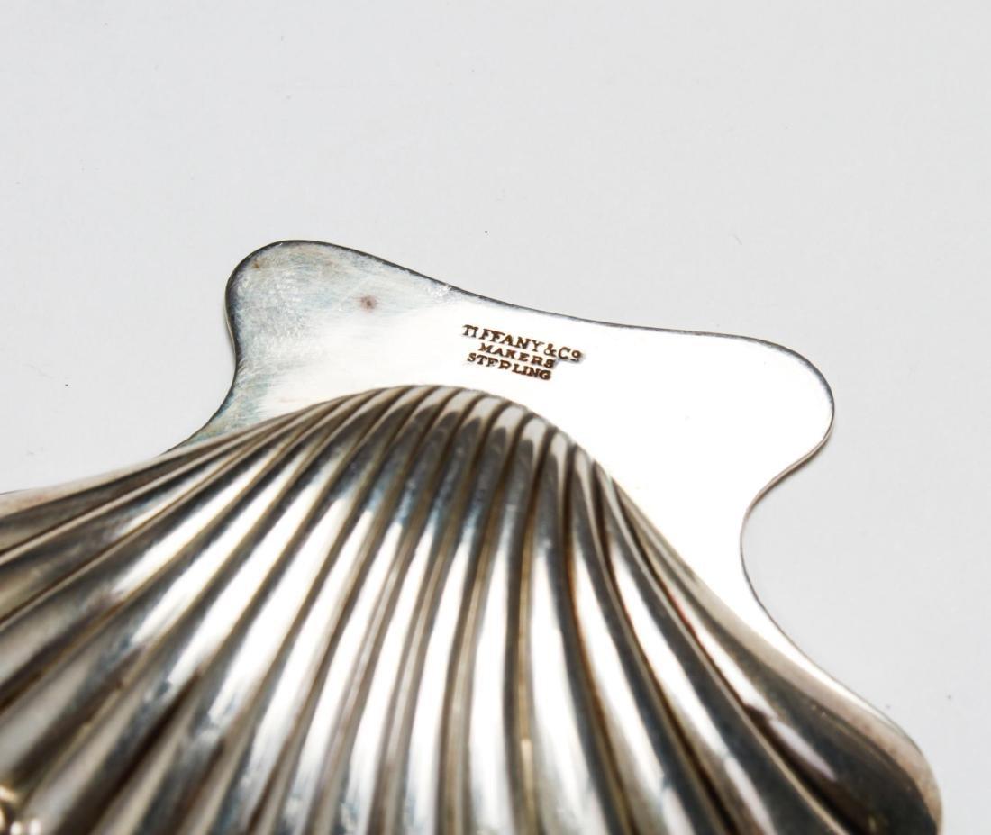 Tiffany & Co Sterling Bamboo Motif Tray & Shell, 2 - 4