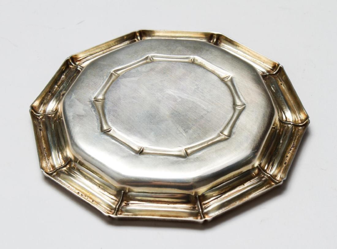Tiffany & Co Sterling Bamboo Motif Tray & Shell, 2 - 5