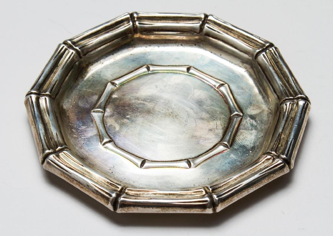 Tiffany & Co Sterling Bamboo Motif Tray & Shell, 2 - 6