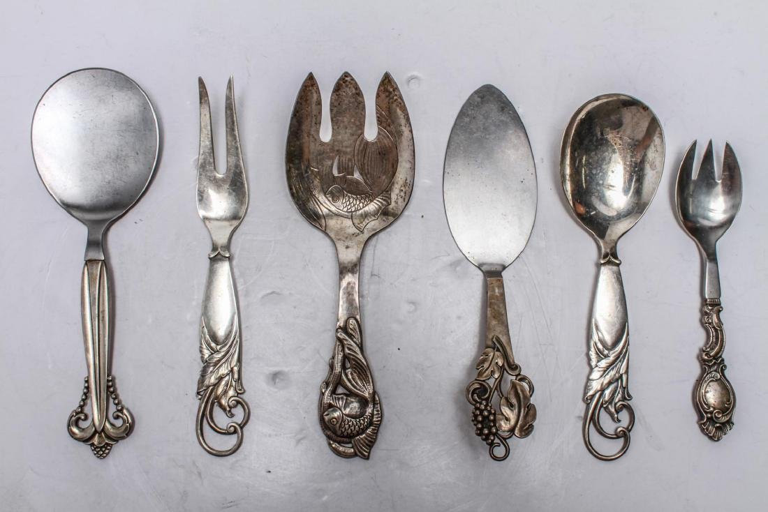 Danish Silver Siggaard & Heise Six Serving Pcs, 6