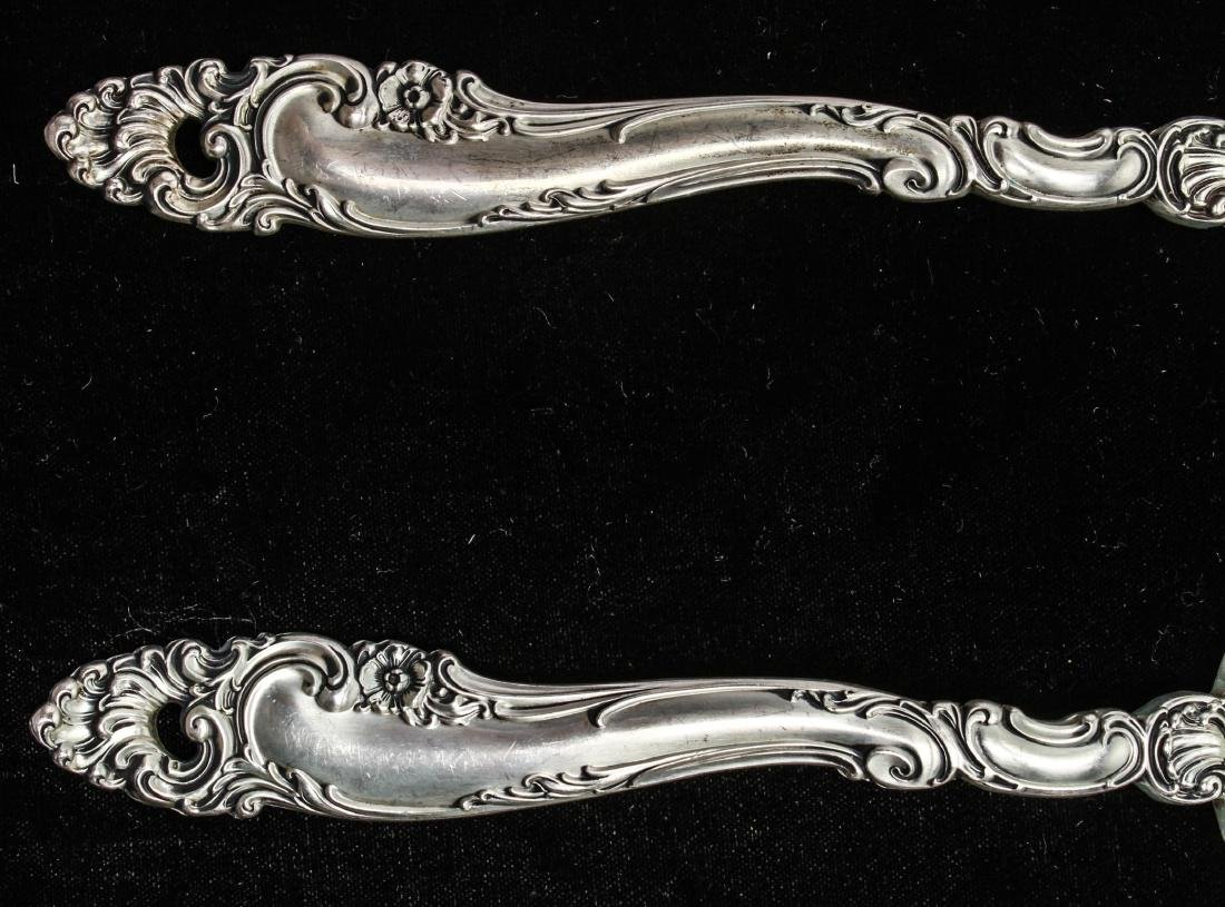 Gorham Sterling Silver Salad Servers, Pair - 2